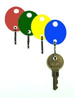 Oval Cabinet Color Key Tags